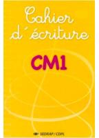 Cahier D'Écriture CM1 - CDPL